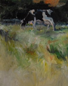Autumn Pasture  9 x 12, Oil on board