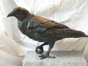 """Aesop's Crow""  17"" x 12""  Ltd. Edition Bronze"